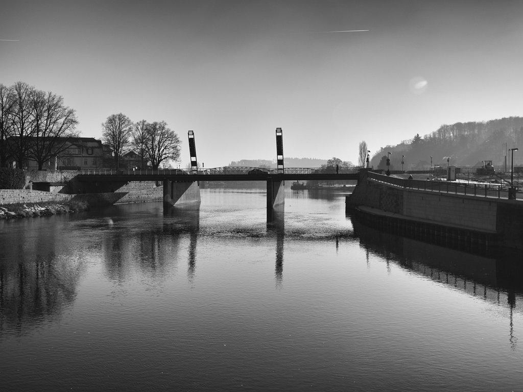 Blick auf die Münsterbrücke